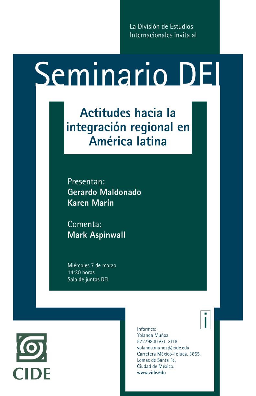 Seminario «Actitudes hacia la integración regional en América latina»