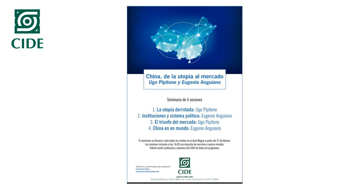 Seminario «China, de la utopía al mercado»