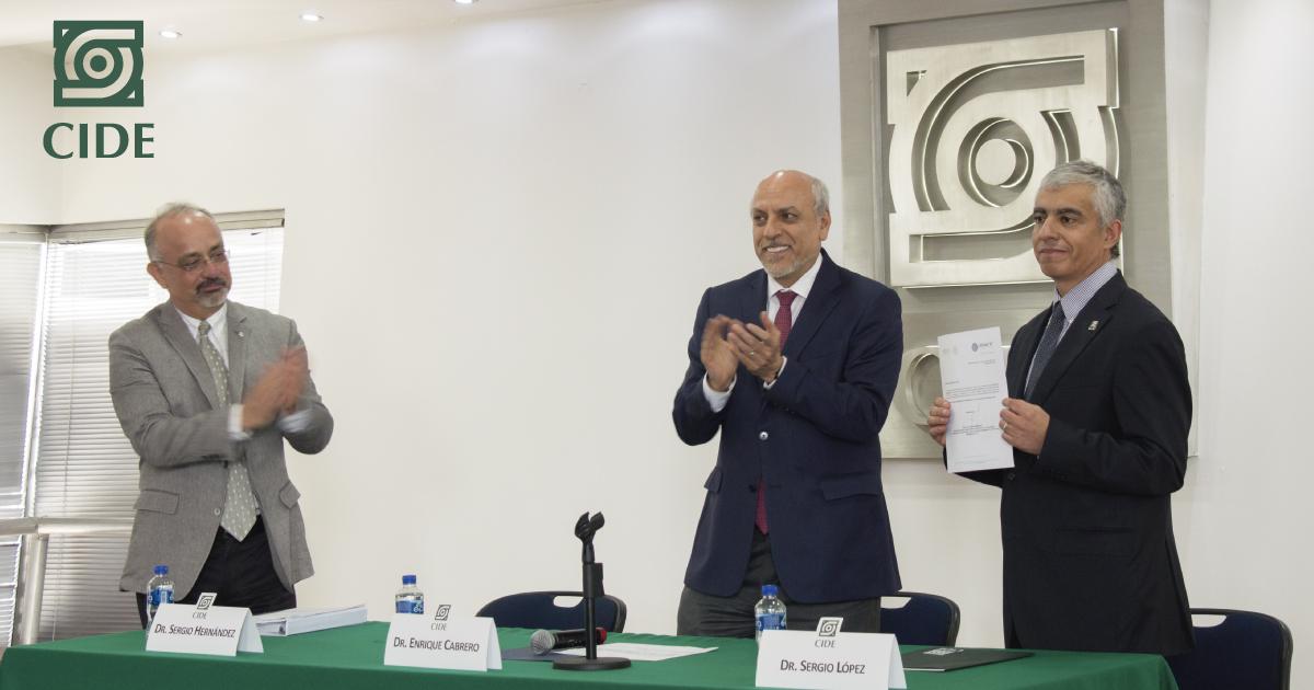Sergio López Ayllón es ratificado como Director General del CIDE para el periodo 2018-2023