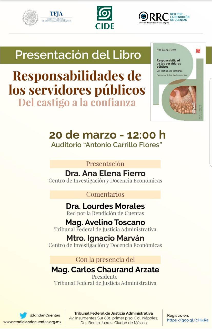 """Presentación del Libro """"Responsabilidades de los servidores públicos"""""""