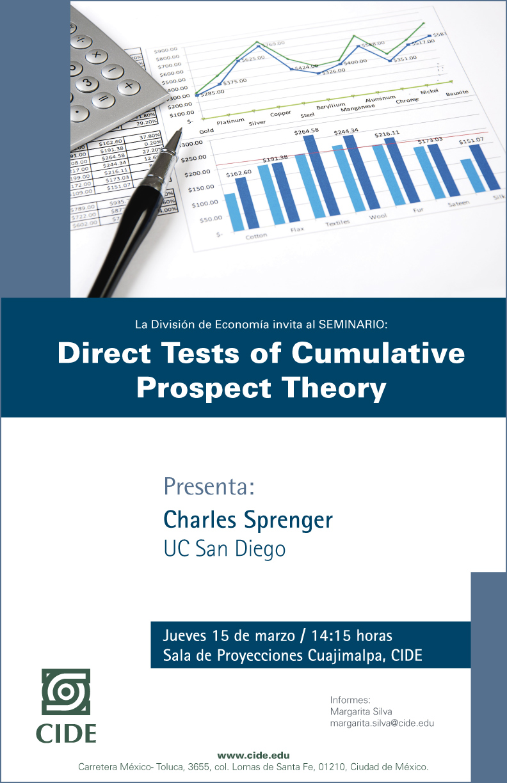 Seminario «Direct Test of Cumulative Prospect Theory»