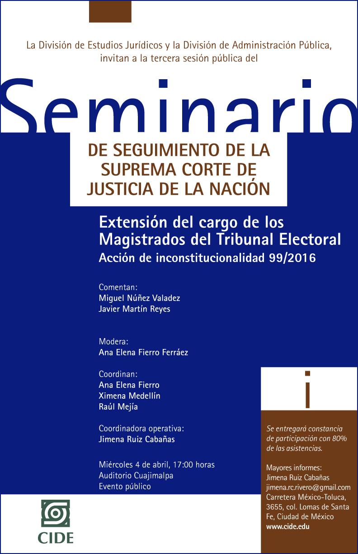Seminario «Extensión del cargo de los Magistrados del Tribunal Electoral»