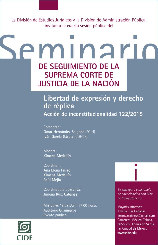 """Seminario """"Libertad de expresión y derecho de réplica"""""""