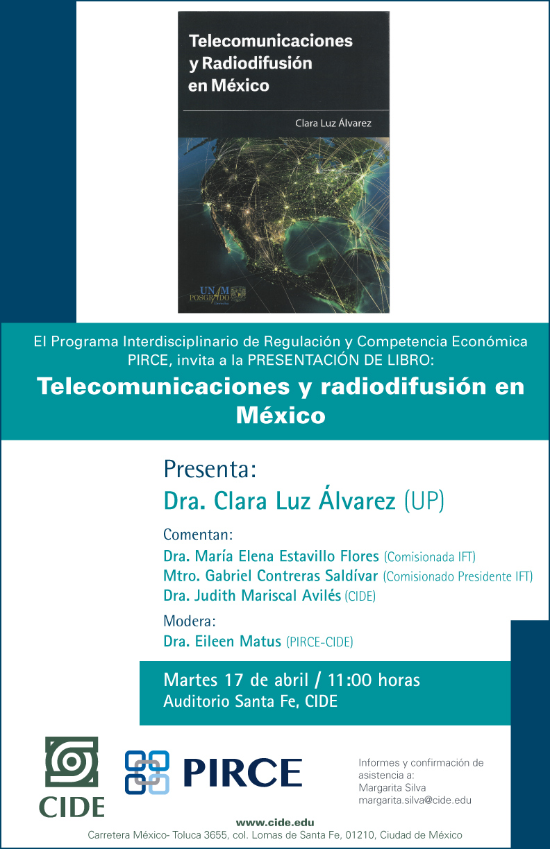 Presentación de libro «Telecomunicaciones y radiodifusión en México»