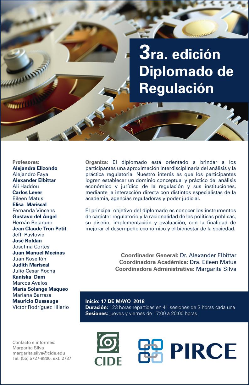 """Diplomado """"3ra. edición Diplomado de Regulación"""""""