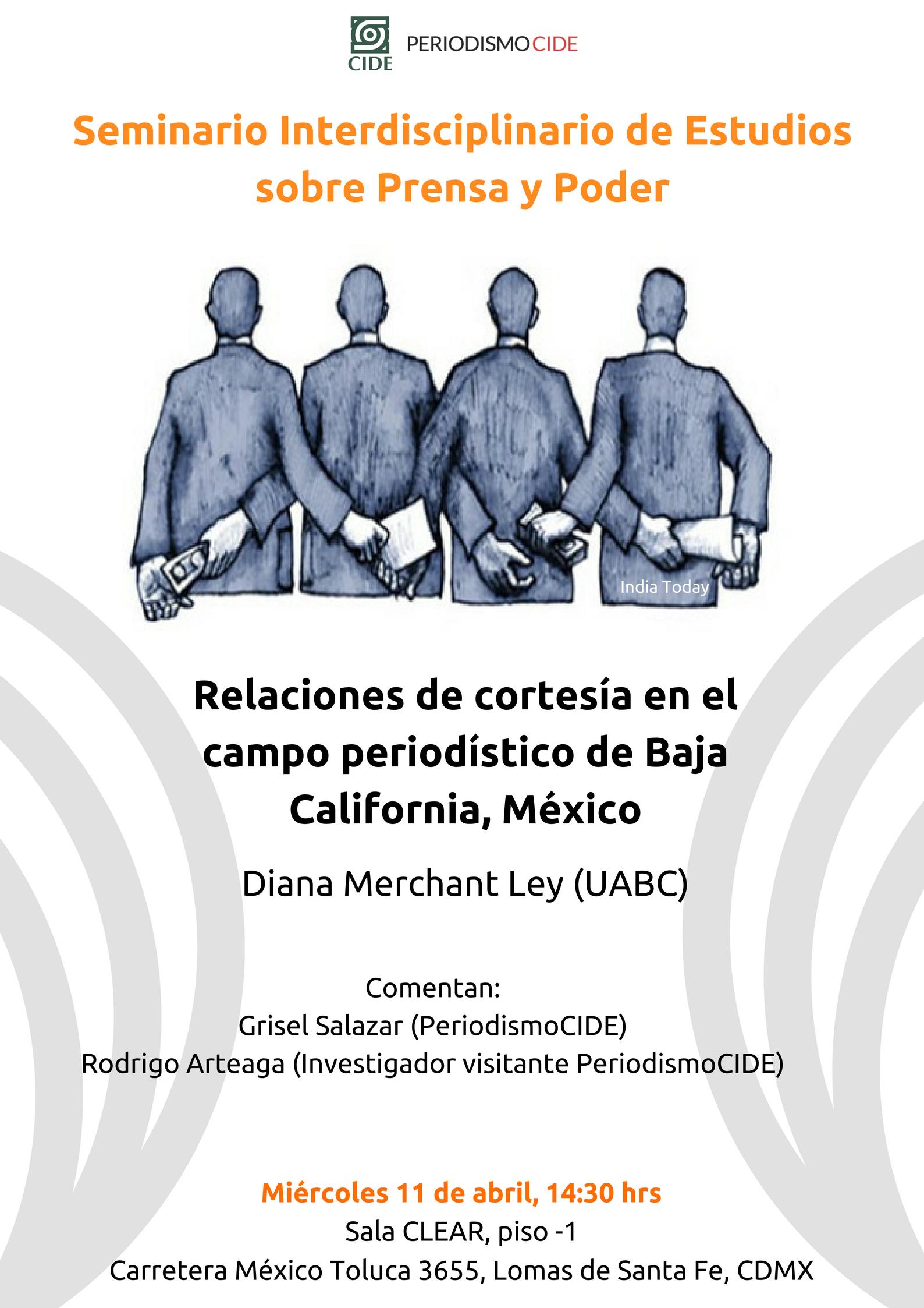 Seminario «Relaciones de cortesía en el campo periodístico de Baja California, México»