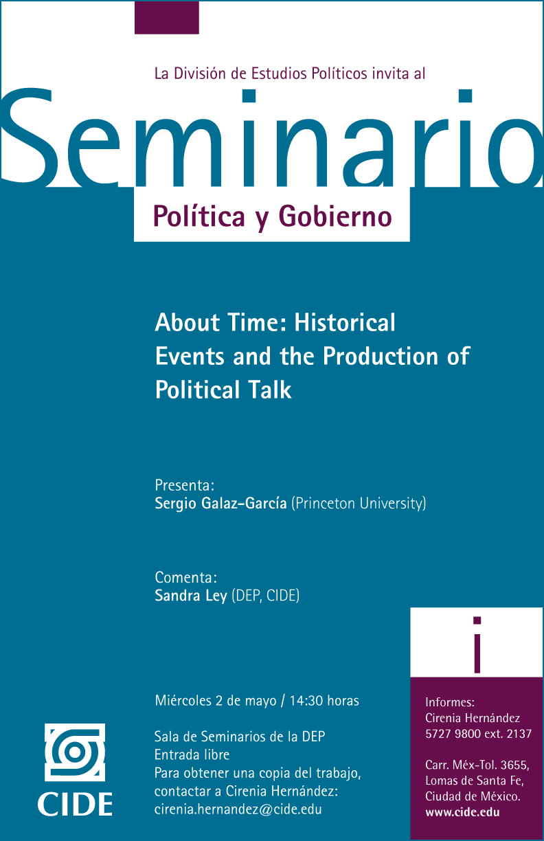 Seminario «About Time: Historical Events and the Production of Political Talk»