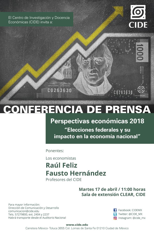 """CONFERENCIA DE PRENSA """"Perspectivas económicas 2018"""""""