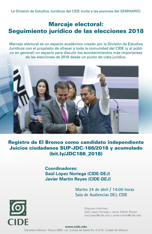Seminario «Marcaje electoral: Seguimiento jurídico de las elecciones 2018»