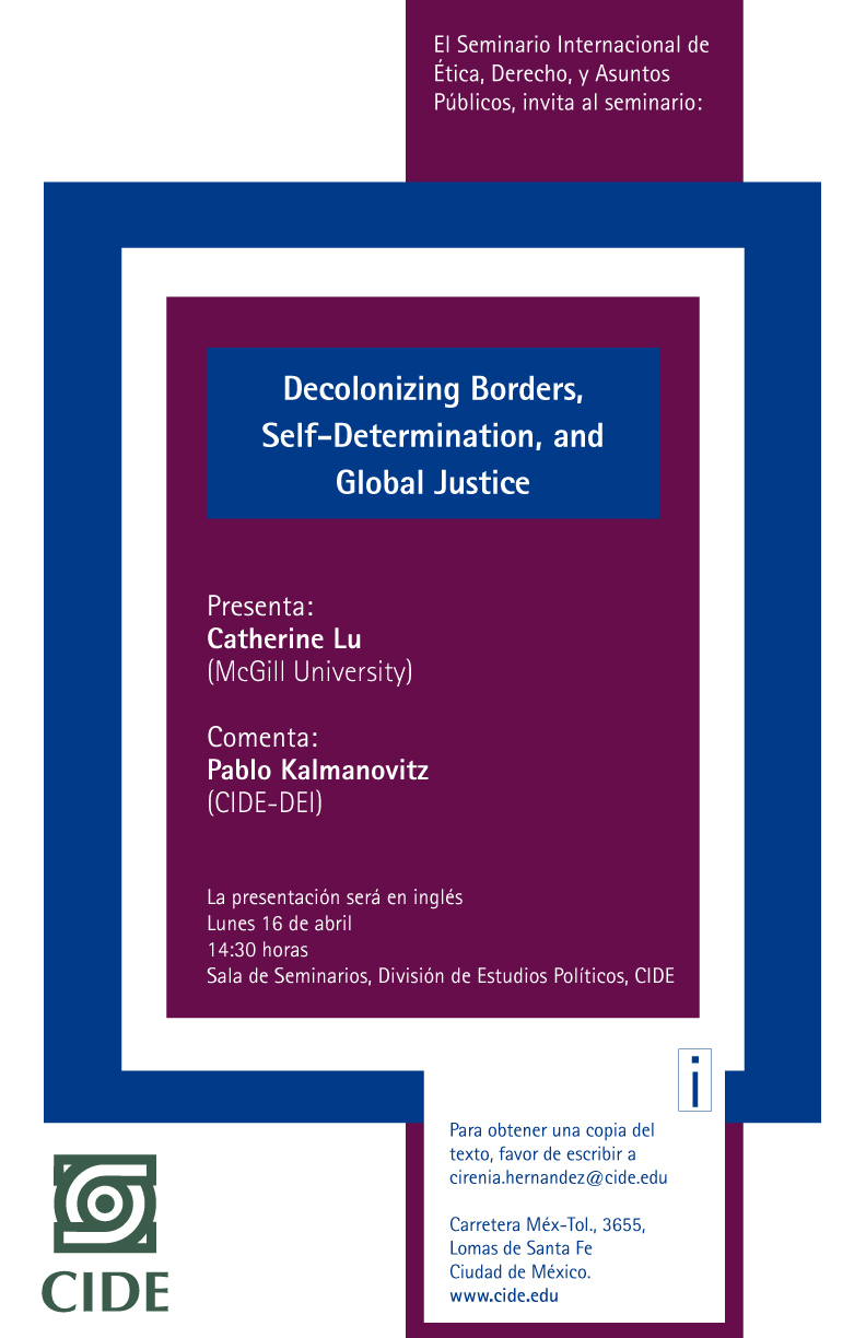 "Seminario ""Decolonizing Borders, Self-Determination, and Global Justice"""