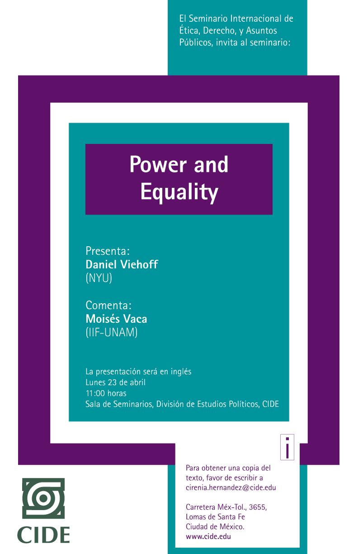 Seminario «Power and Equality»