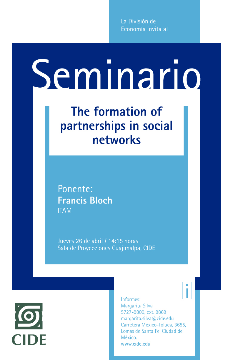 Seminario «The formation of partnerships in social networks»