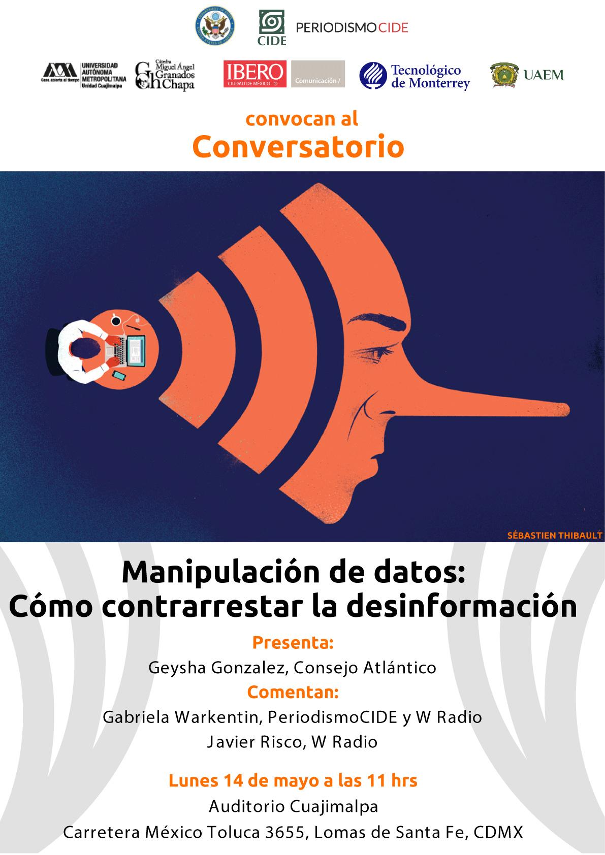 Conversatorio «Manipulación de datos: Cómo contrarrestar la desinformación»