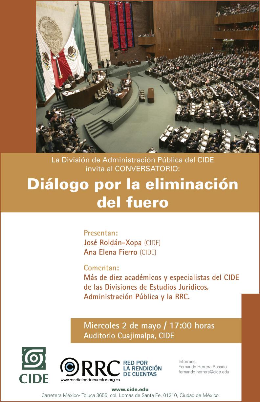Conversatorio «Diálogo por la eliminación del fuero»