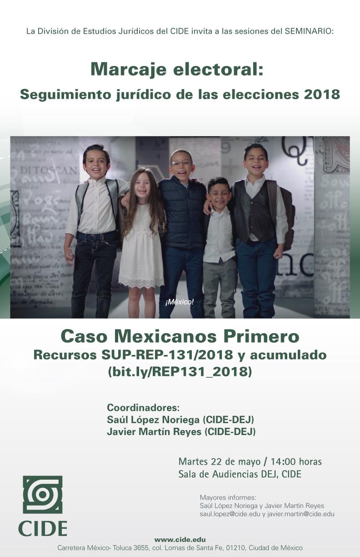 Seminario «Seguimiento jurídico de las elecciones 2018»