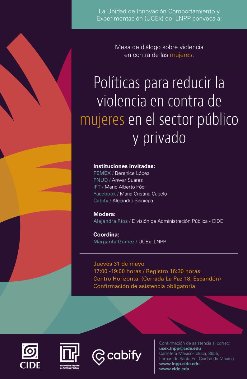 Mesa de diálogo «Políticas para la violencia en contra de mujeres en el sector público y privado»