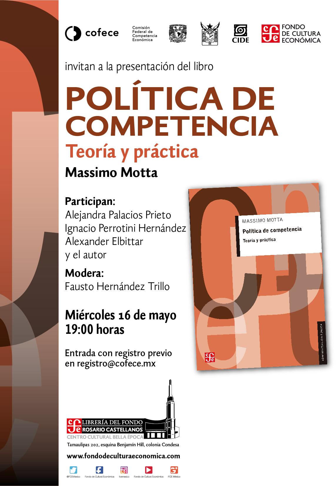 Presentación del libro «POLÍTICA DE COMPETENCIA»