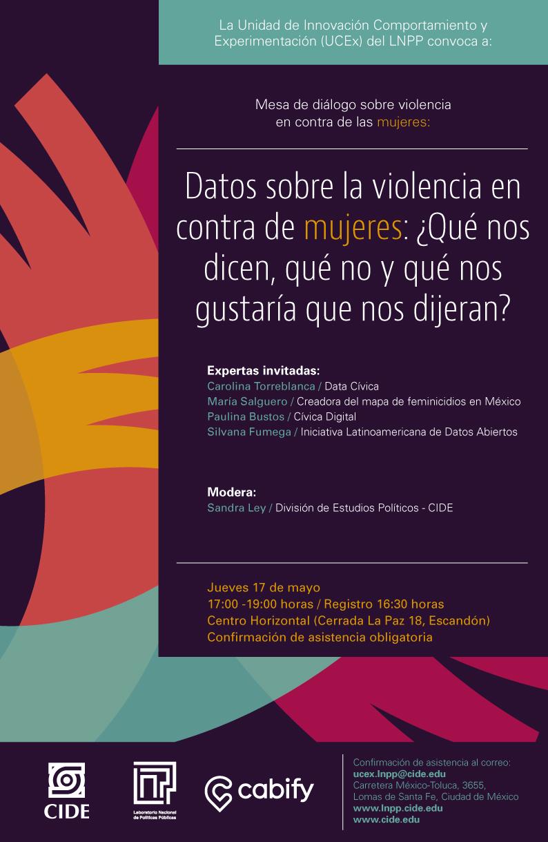 """Mesa de diálogo """"Datos sobre la violencia en contra de mujeres"""""""