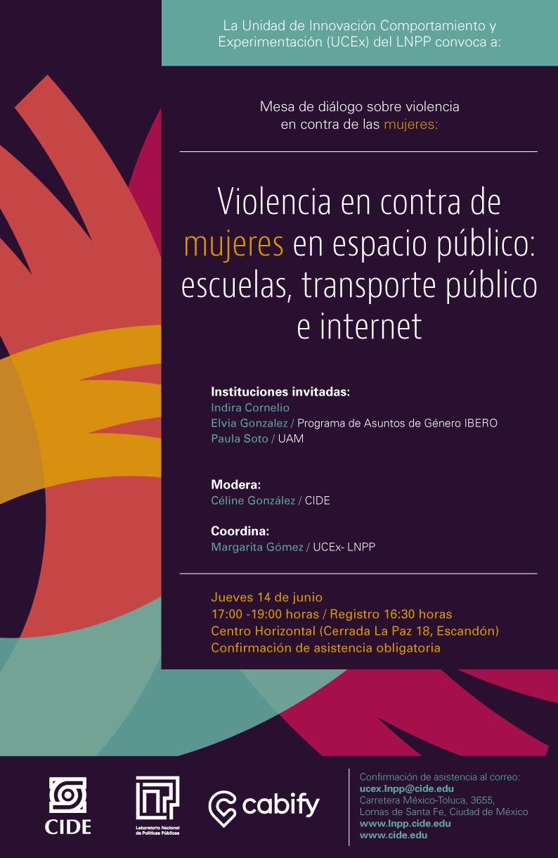 """Mesa de diálogo """"Violencia en contra de mujeres en espacio público"""""""