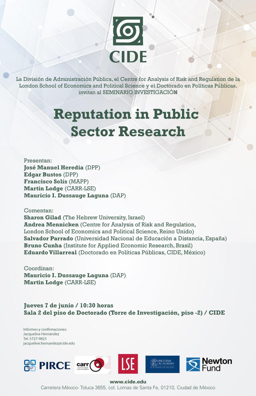 Seminario investigación «Reputation in Public Sector Research»
