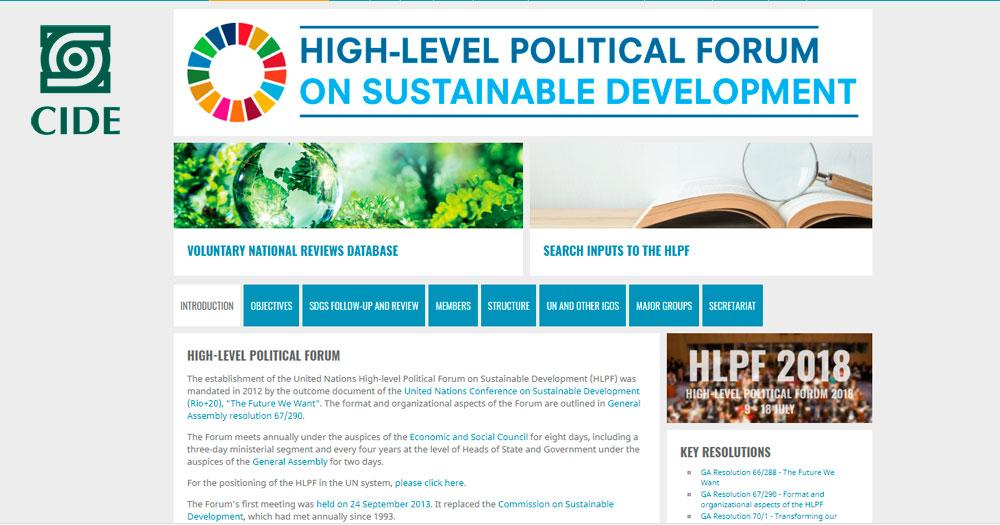 EL CIDE-LNPP participa en el Foro Político de Alto Nivel de la ONU