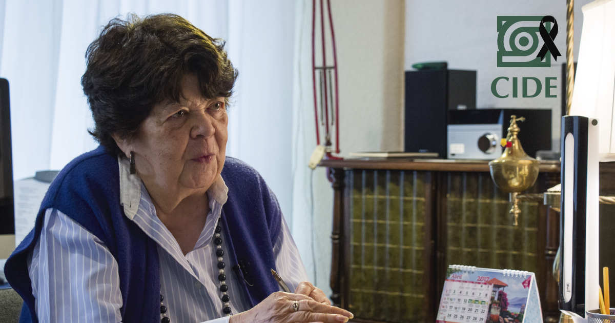 Fallece Trinidad Martínez Tarragó, fundadora del CIDE
