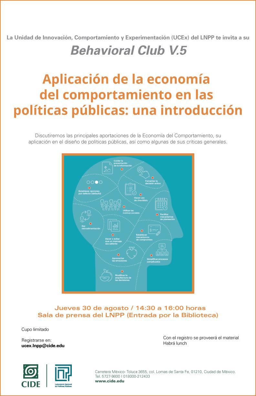 Behavioral Club «Aplicación de la economía del comportamiento en las políticas públicas: una introducción»