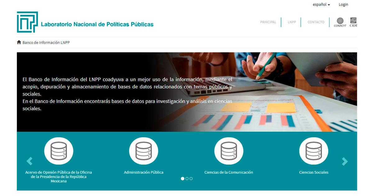 LNPP-CIDE impusa gran banco de información en ciencias sociales