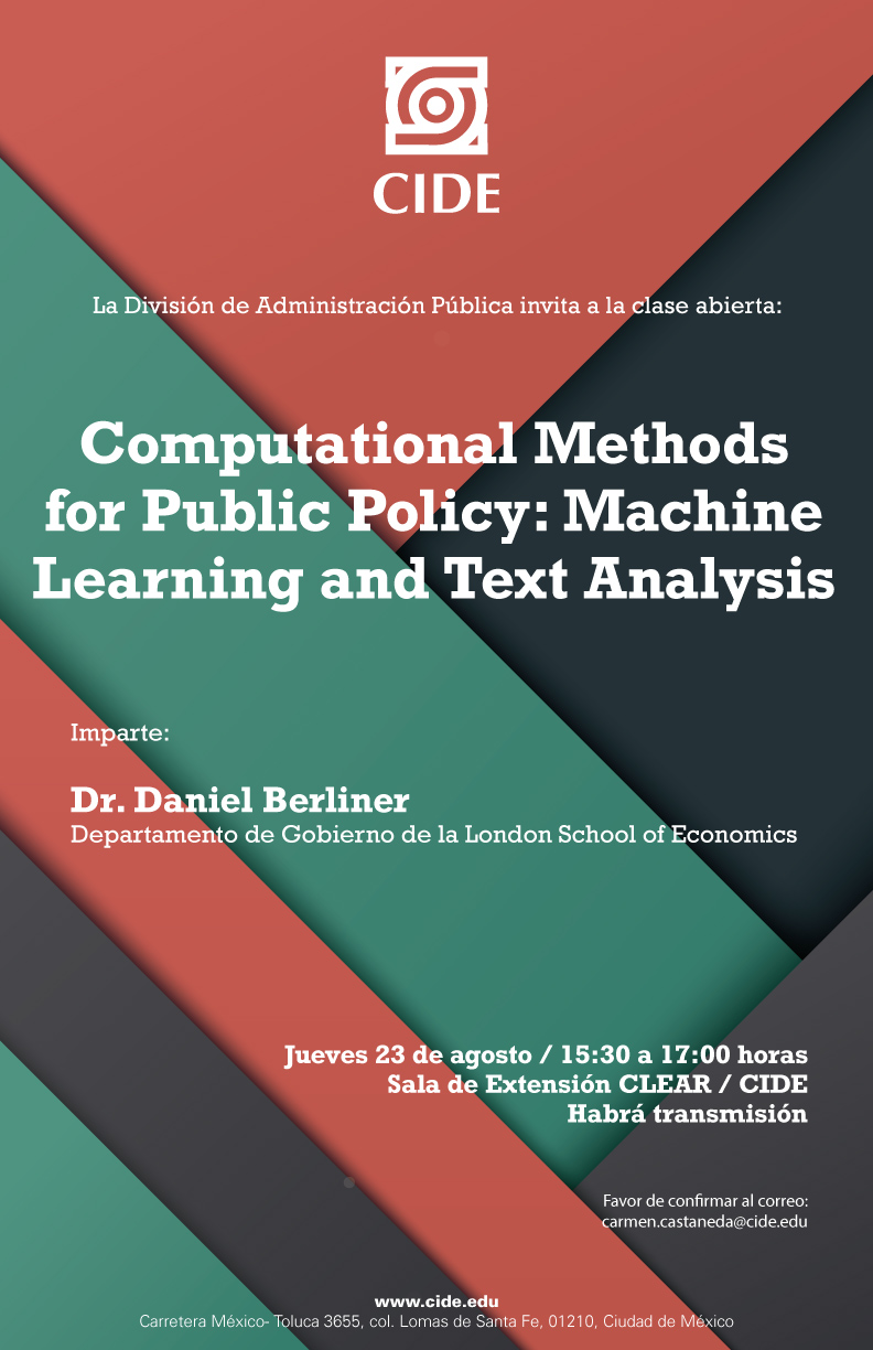 Clase abierta «Computational Methods for Public Policy»