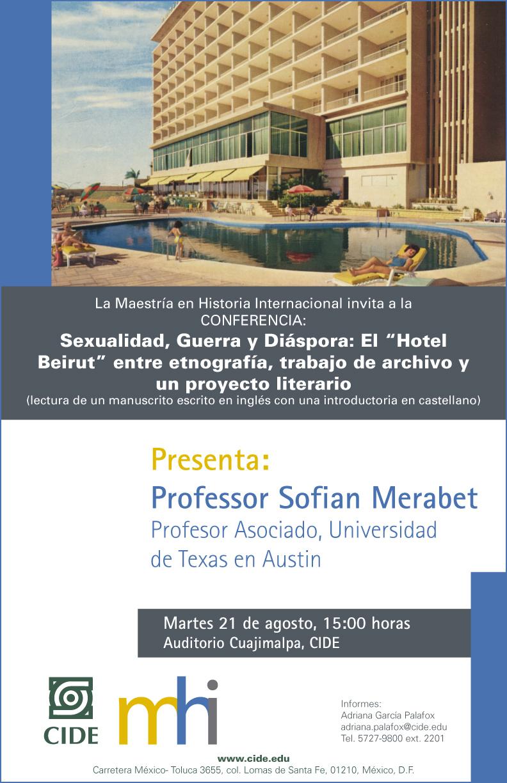 Conferencia «Sexualidad, Guerra y Diáspora»