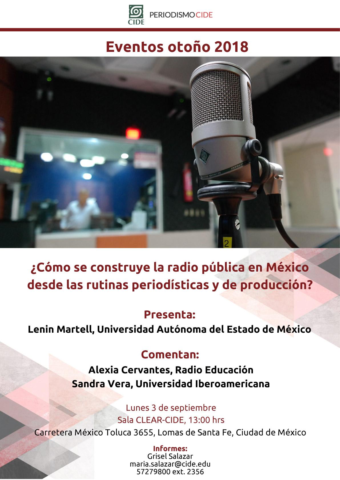 Seminario «¿Cómo se construye la radio pública en México desde las rutinas periodísticas y de producción»