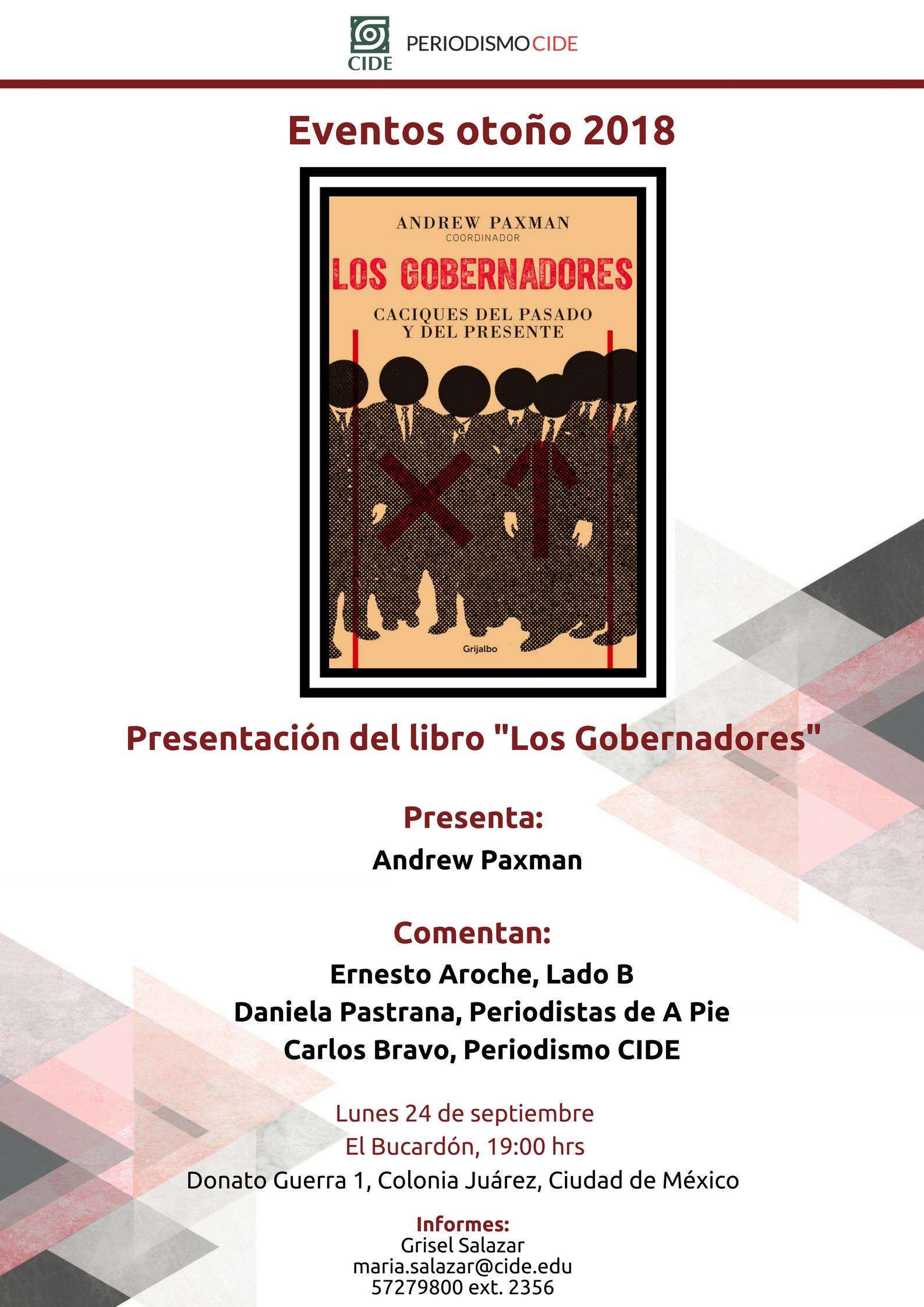 Presentación del libro «Los gobernadores»