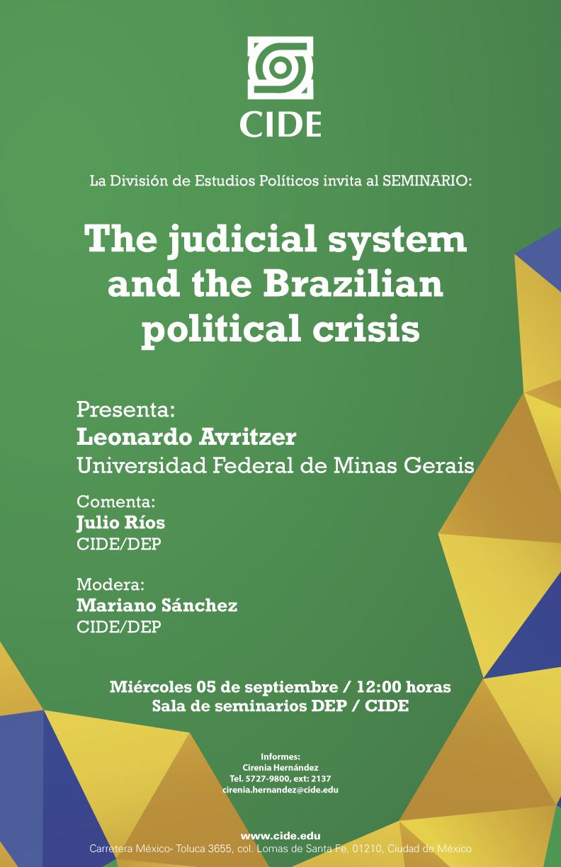 Seminario «The judicial system and the Brazilian political crisis»
