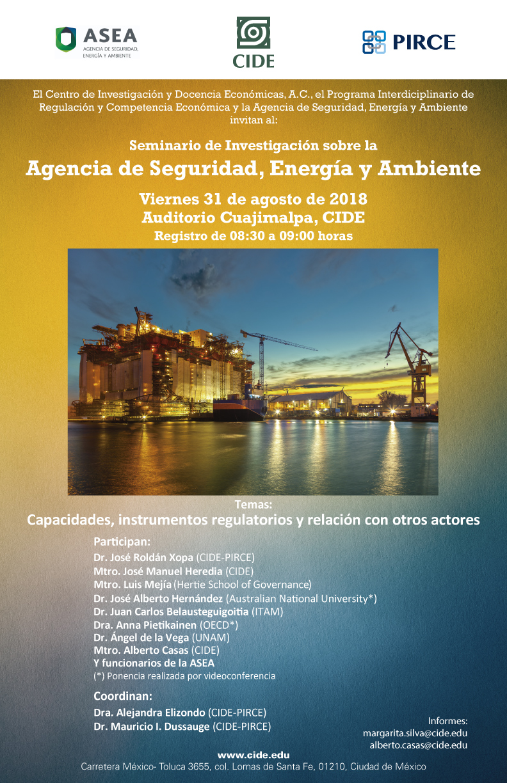 Seminario de Investigación «Agencia de Seguridad, Energía y Ambiente»