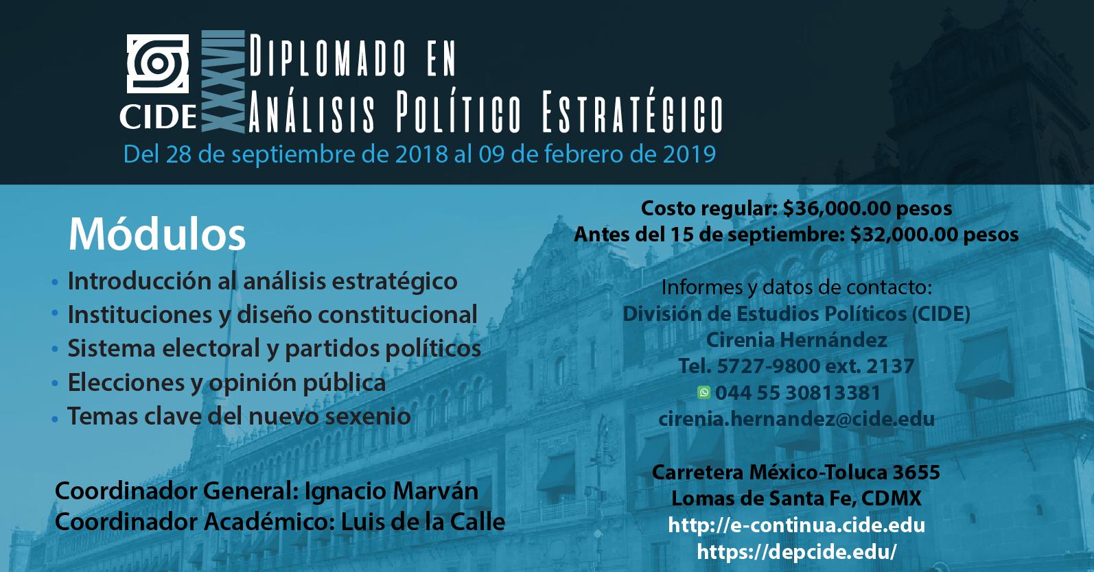 Diplomado «Análisis Político Estratégico»