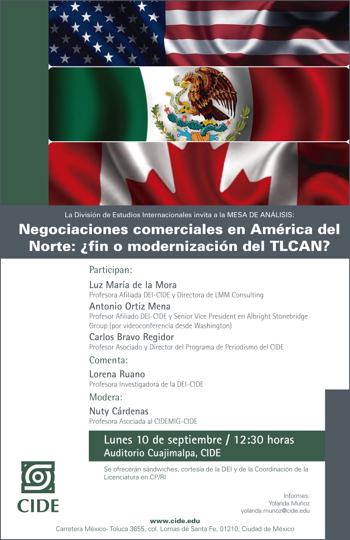 Mesa de análisis «Negociaciones comerciales en América del Norte»