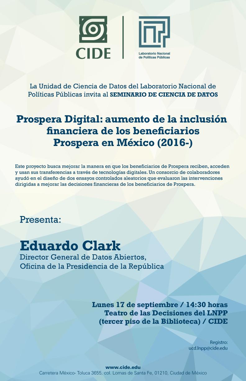 Seminario «Prospera Digital: aumento de la inclusión financiera de los beneficiarios Prospera en México»