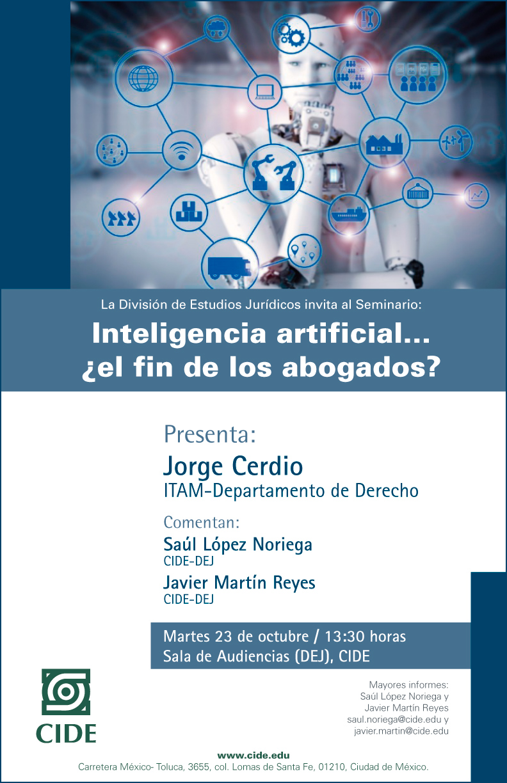 Seminario «Inteligencia artificial… ¿el fin de los abogados?»