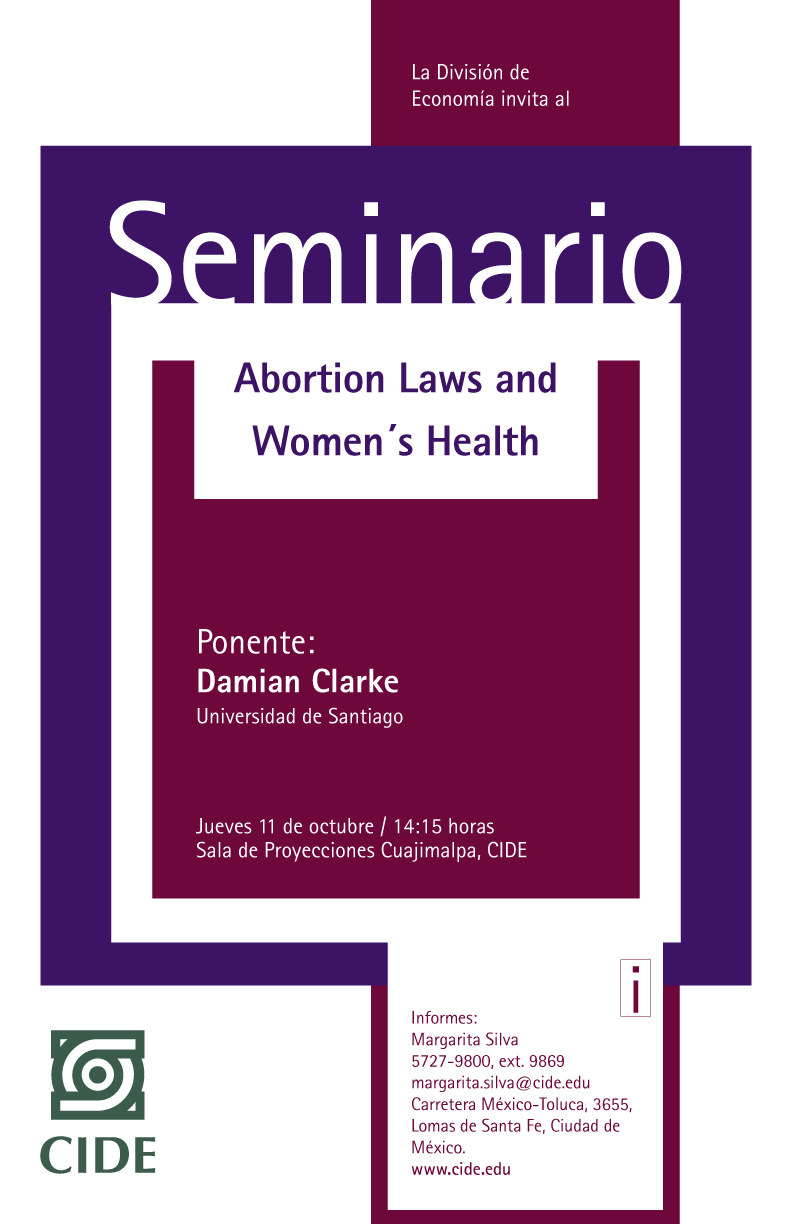 Seminario «Abortion Laws and Women´s Health»