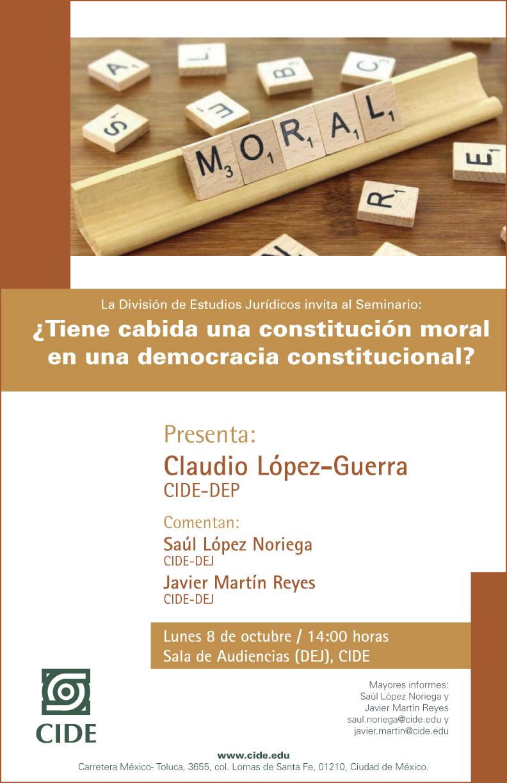 Seminario «¿Tiene cabida una constitución moral en una democracia constitucional»