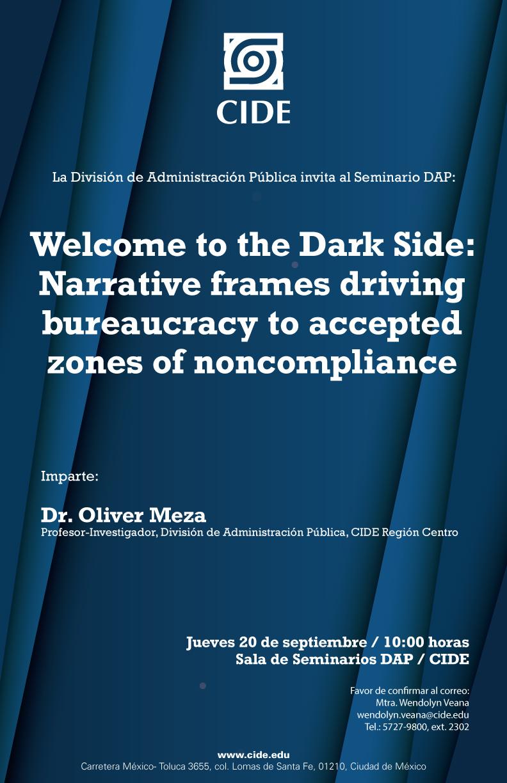 "Seminario ""Welcome to the Dark Side"""