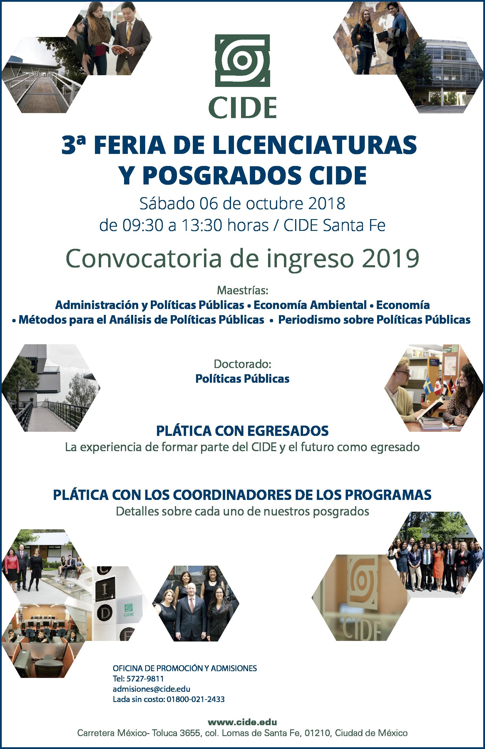 3a Feria de Licenciaturas y Posgrados CIDE
