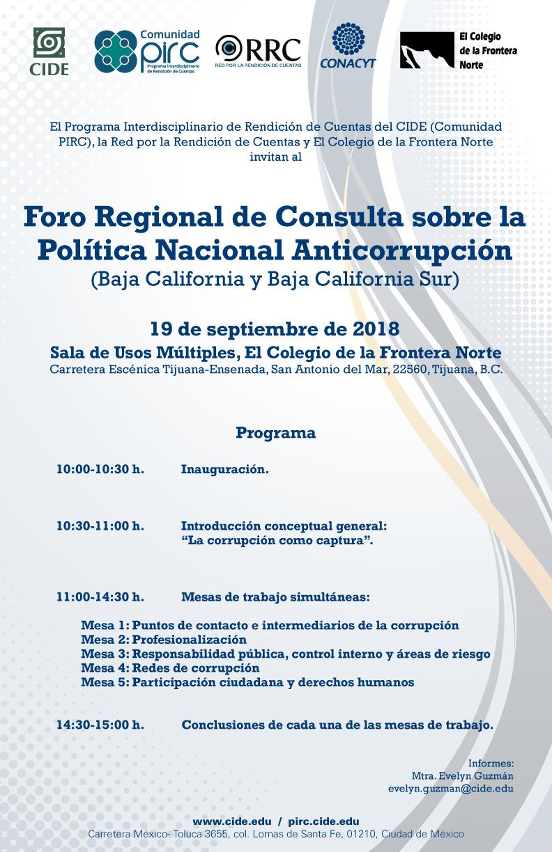 Foro Regional de Consulta sobre la Política Nacional Anticorrupción