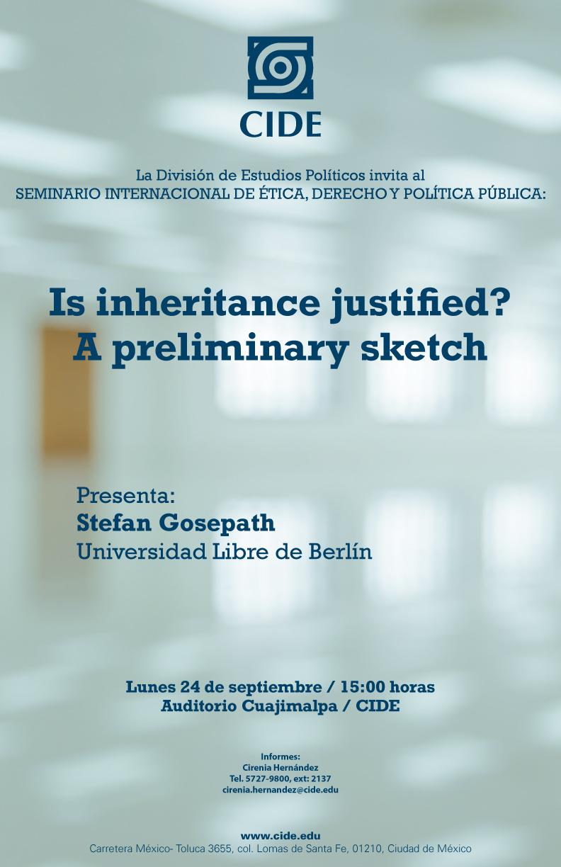 Seminario «Is inheritance justified? A preliminary sketch»