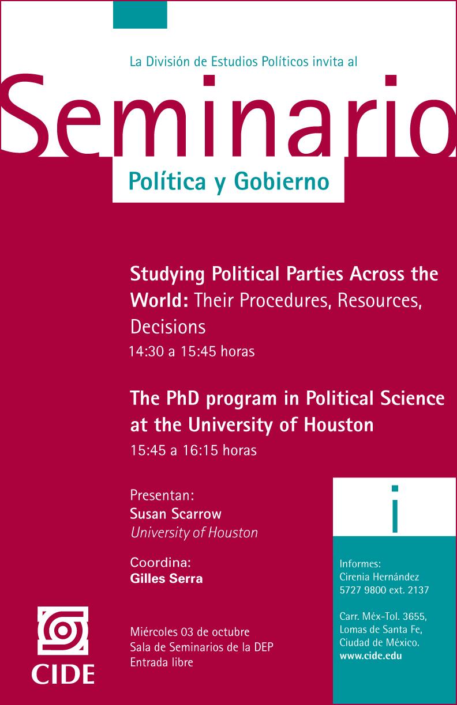Seminario «Política y Gobierno»