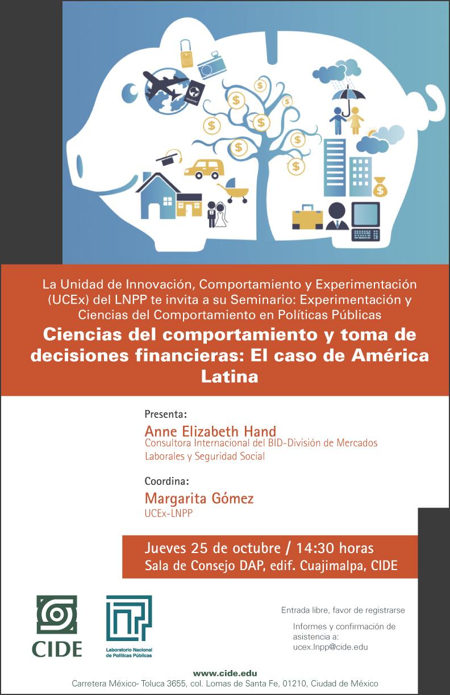 Seminario «Experimentación y Ciencias del Comportamiento en Políticas Públicas»