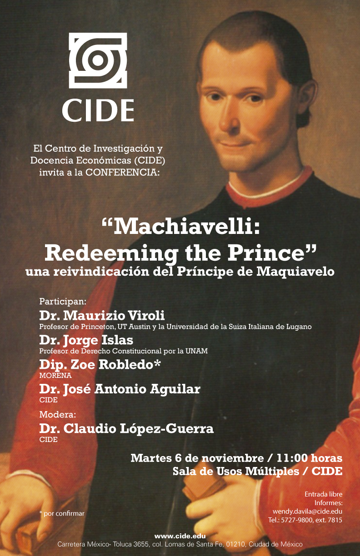 Conferencia «Machiavelli Redeeming the Prince»