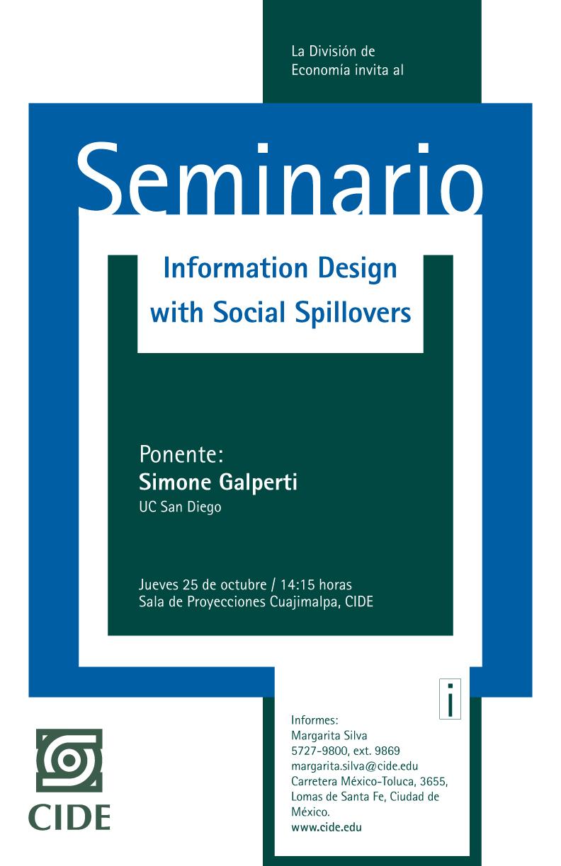 Seminario «Information Design with Social Spillovers»
