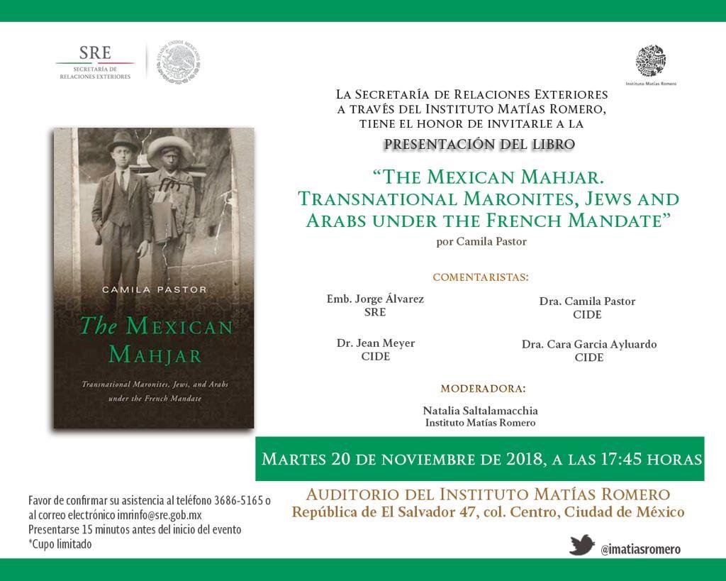 Presentación del libro «THE MEXICAN MAHJAR»