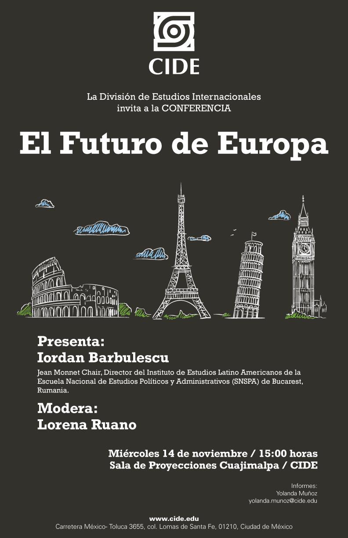 """Conferencia """"El Futuro de Europa"""""""